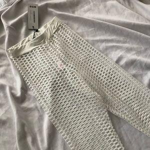 White Mesh Pants